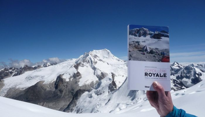 The book « Trek et andinisme en Cordillère Royale »