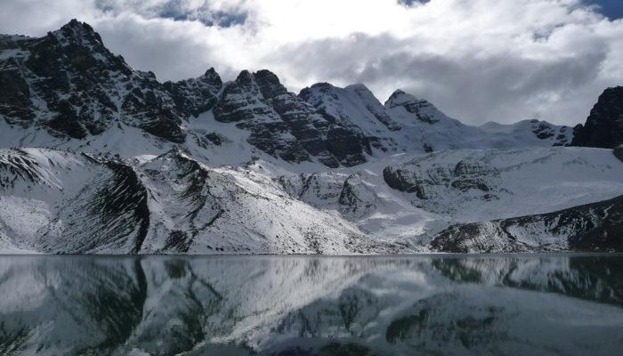 LAGUNA JURIKHOTA - LAGUNA CONGELADA - AUSTRIA PASS - LAGUNA CHIARKHOTA (4680 meters / 15 354 feet a.s.l)