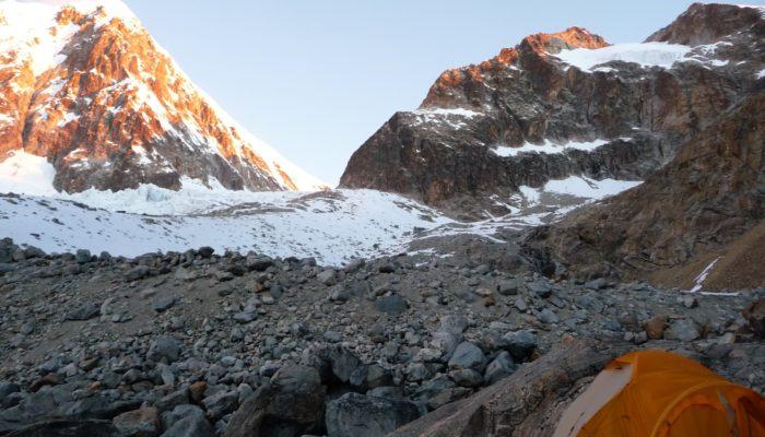 ILLAMPU BASE CAMP  - ILLAMPU HIGH CAMP (5090 meters/16,700 feet asl)